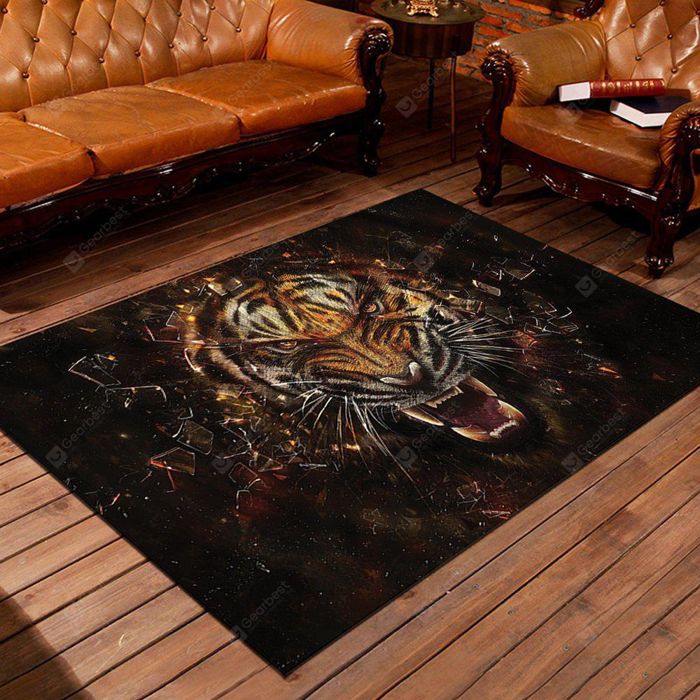 Home Mat Antiskid Water Absorption Modern Design Tiger Kitchen Bedroom Rug