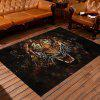 Home Mat Antiskid Water Absorption Modern Design Tiger Kitchen Bedroom Rug - BLACK