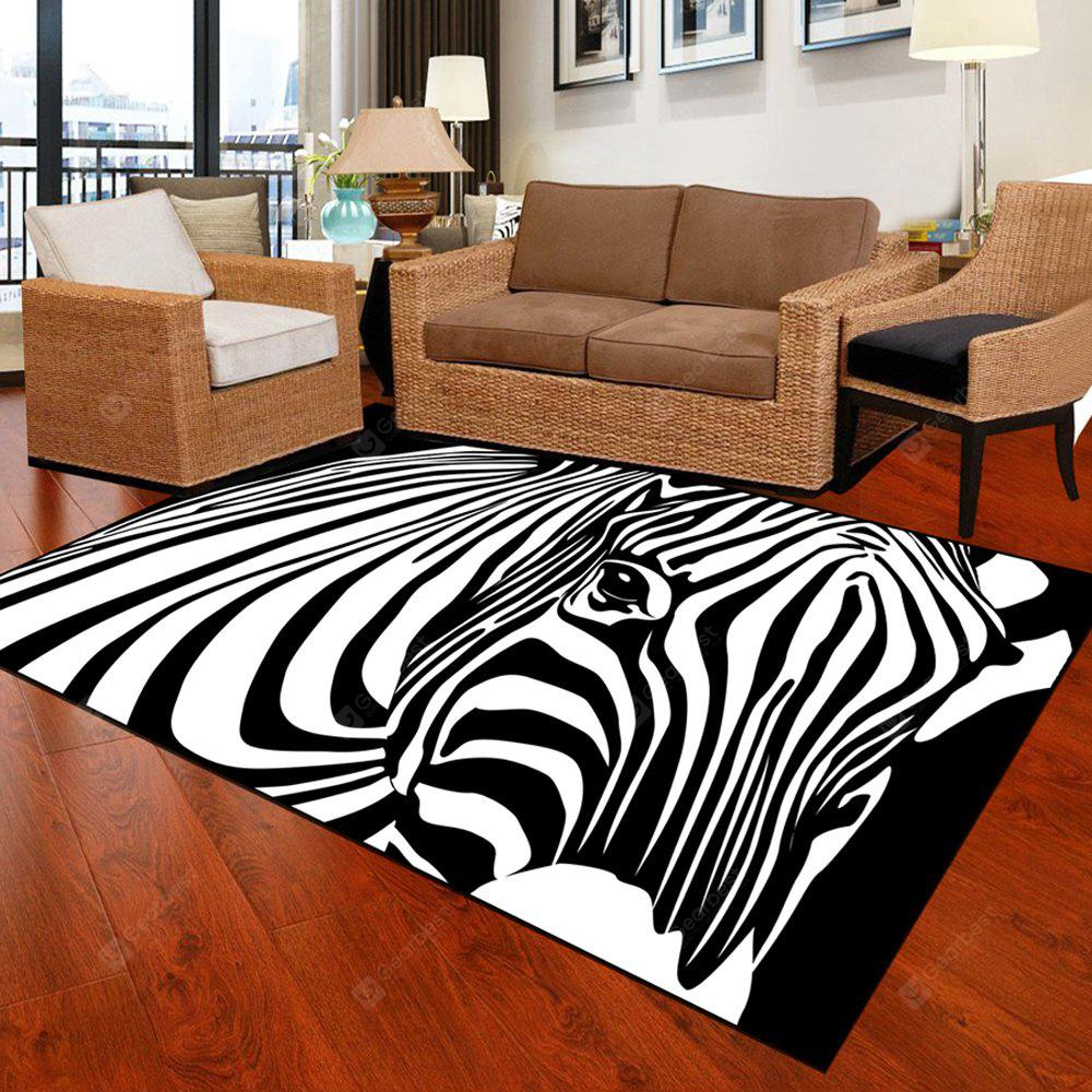 Bedroom Floor Mat Unique Popular Zebra Head Pattern Soft Antiskid Washable Mat