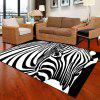 Bedroom Floor Mat Unique Popular Zebra Head Pattern Soft Antiskid Washable Mat - BLACK WHITE