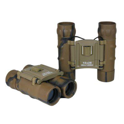BDJ2234 10x25mm Camouflage Mini Pocket Folding Binoculars for Kids and Adults