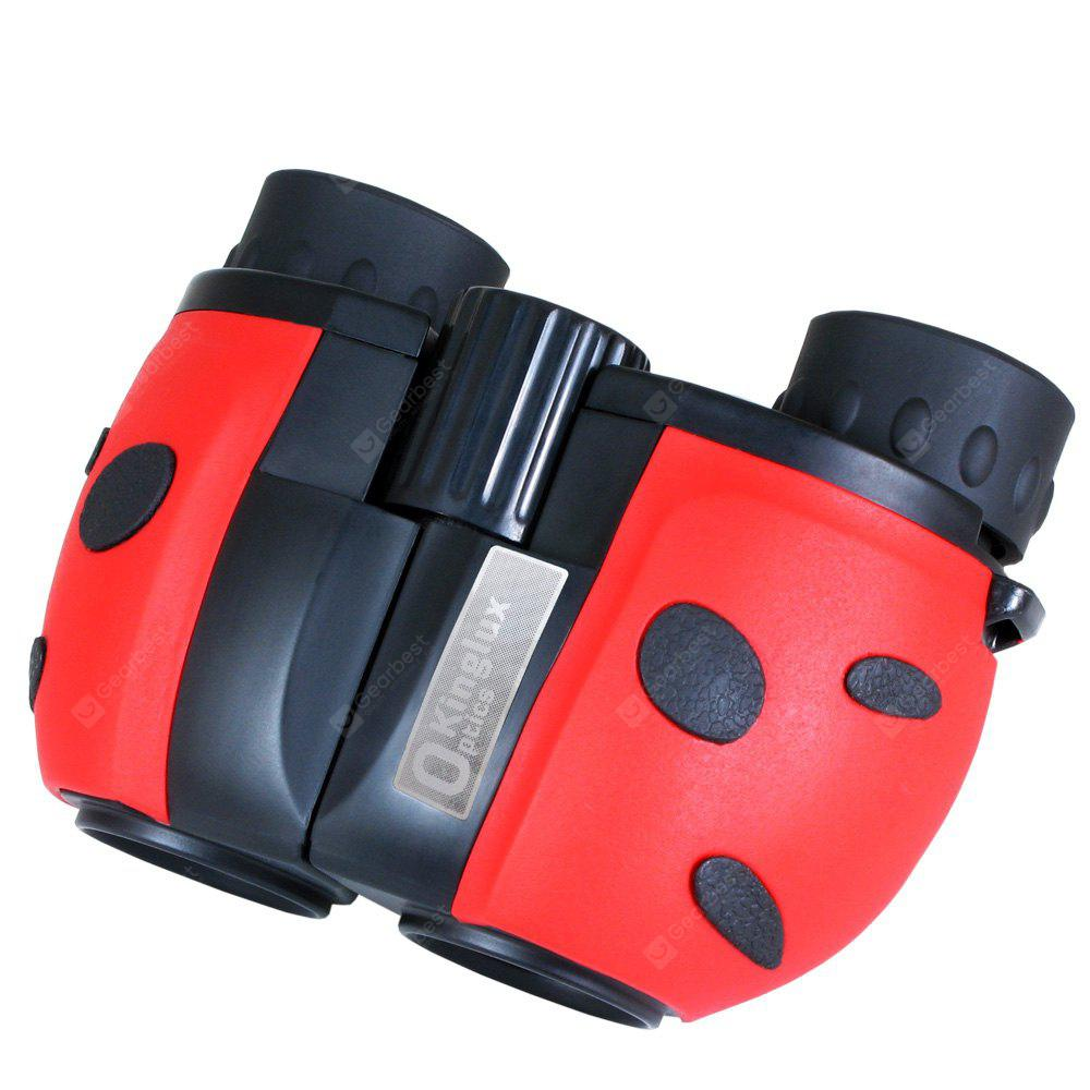 Kinglux Optics 8x22mm Lady Beetle Designed Binocular for Bird Watching Game Outdoor Events Perfect Gift for Kids
