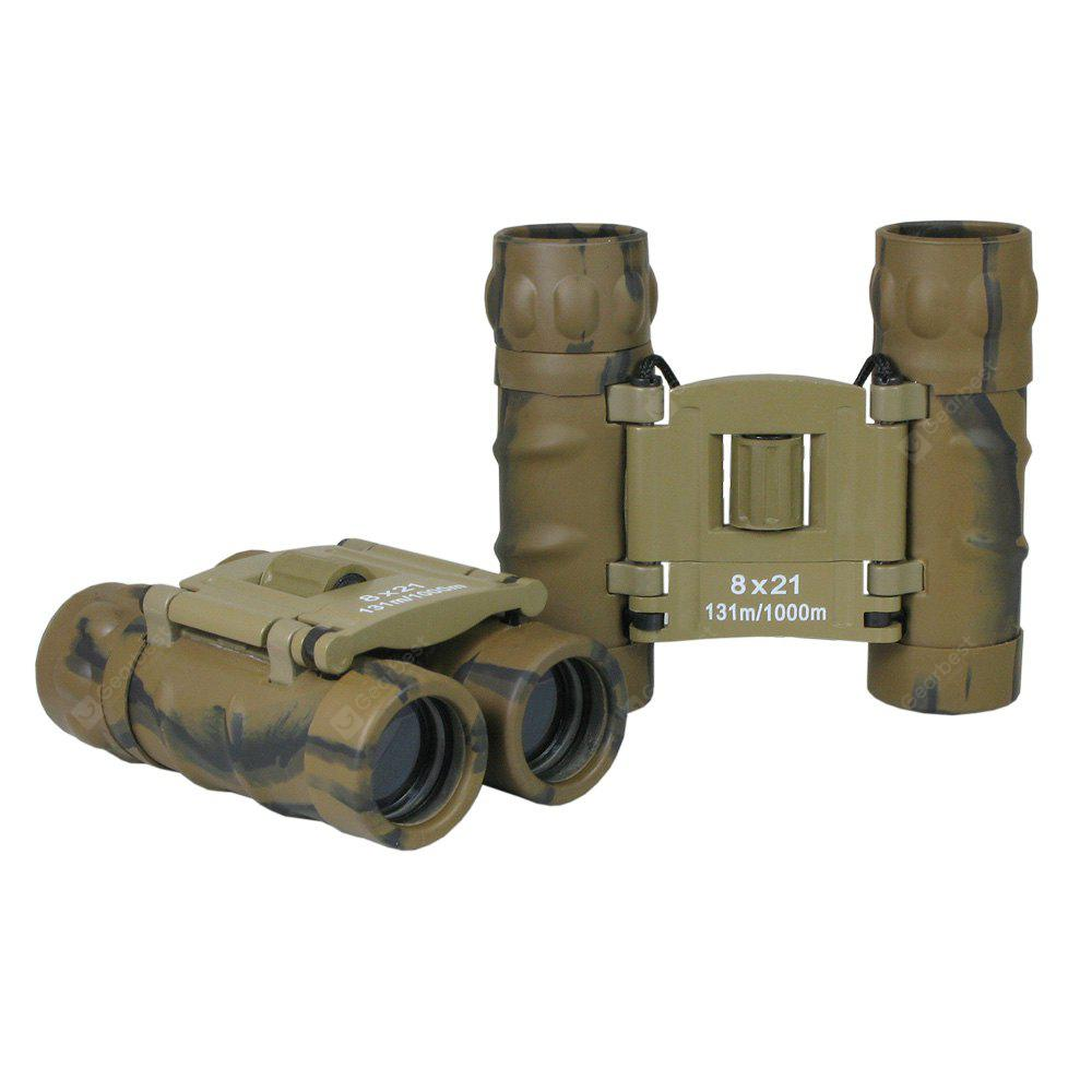 BDJ2234 8x21mm Camouflage Mini Pocket Folding Binoculars for Kids and Adults