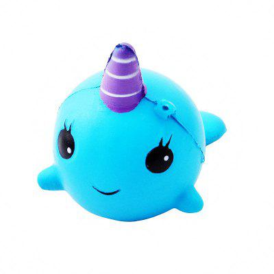11CM Soft Whale Cartoon Squishy Slow Rising Squeeze Toy