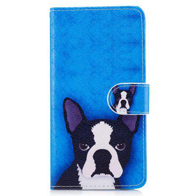 Dog Painting Card Lanyard Pu Leather Cover for MOTO Z Play