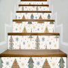 Colorful Christmas Tree PVC Stairs Sticker Xmas Full Color Trees Snow Flake Stairway Sticker For Kids Room - COLORMIX