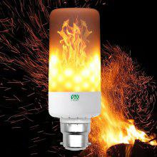 YWXLight B22 LED Flame Effect Fire Light Bulbs Flickering Emulation Flame Lamp AC85-265V