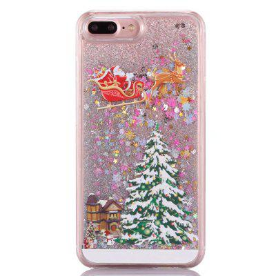 Christmas Element Liquid Sparkle Floating Luxury Protective Bumper Silicone Cove for iPhone 7 Plus / 8  Plus