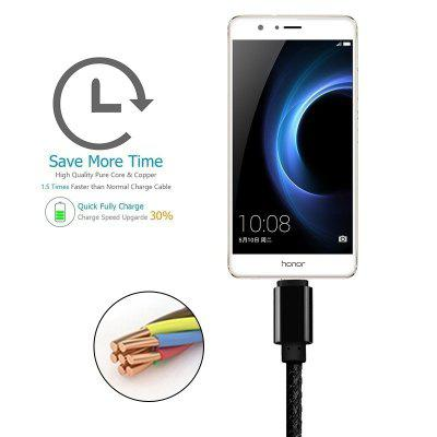 Micro USB Type C Cable Charging Sync Braided 1FT 3FT 6FT 10FT Cable For Samsung Galaxy S3 S4 S5 S6 S8 huawei xiaomi 1m 1 8m 3m e sata esata male to male extension data transfer cable cord for portable hard drive 3ft 6ft 10ft