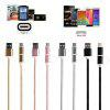 2-In-1 USB 2.0 Male To USB 3.1 Type C/Micro USB Weave Data Fast Charging Cable MEL - SILVER