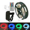 ZDM 200CM Impermeabile 5050 LED Light Strip e controller IR44 12V / 3A Alimentazione AC110-240V - BIANCO