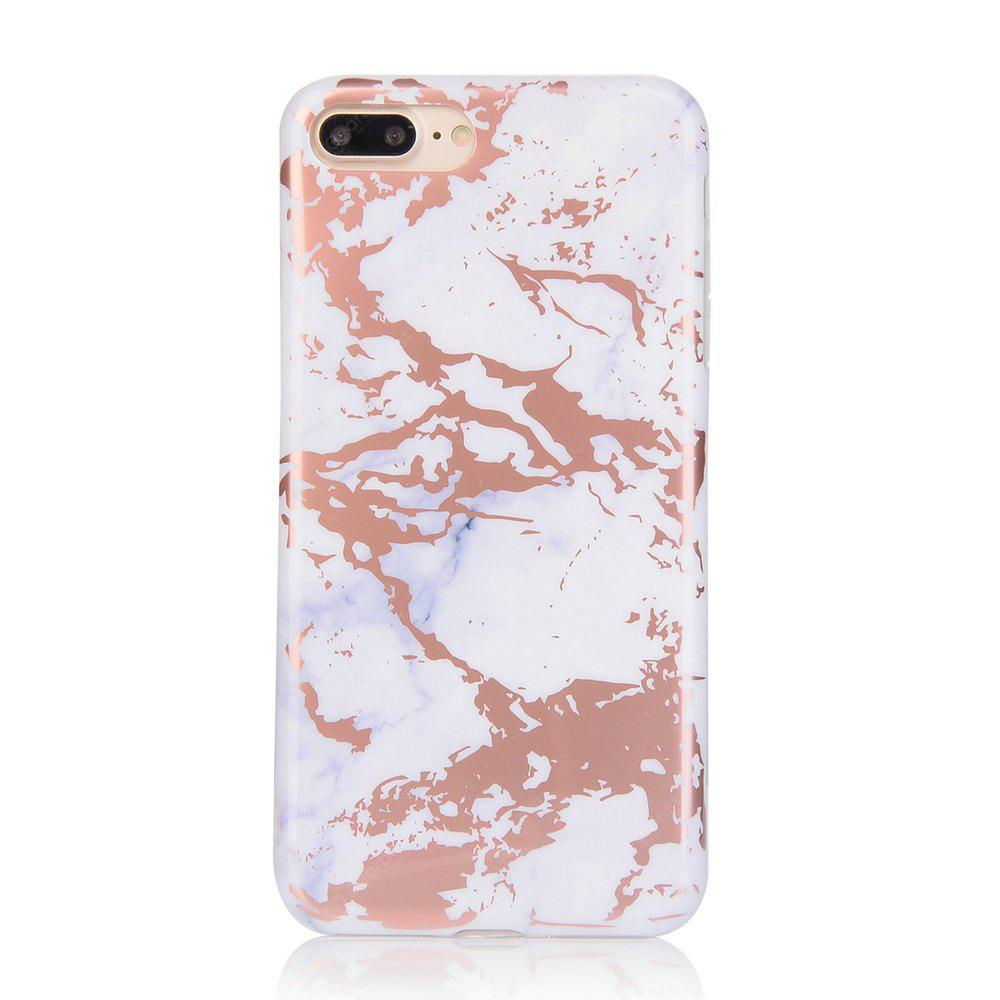 Bronzing Golden Marble Patterned Soft IMD Back Cover Cases for iPhone 7 Plus 8 Plus