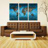 Modern Frameless Canvas Art Prints for Home Wall Decoration 3PCS - COLORFUL