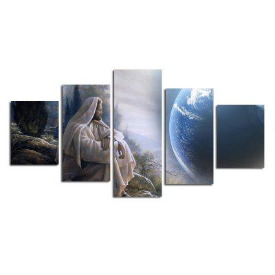 Modern Frameless Art Canvas Prints for Home Wall Decoration 5pcs