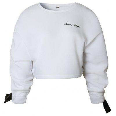 2017 Automne Hiver Manches Tied Mode Sweat
