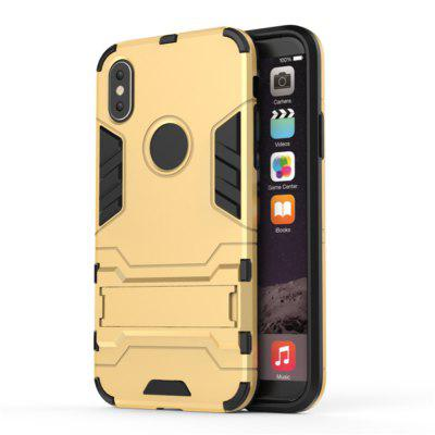2 in 1 Bracket Phone Case for iPhone XiPhone Cases/Covers<br>2 in 1 Bracket Phone Case for iPhone X<br><br>Compatible for Apple: iPhone X<br>Features: Cases with Stand, Anti-knock<br>Material: TPU, PC<br>Package Contents: 1 x Phone Case<br>Package size (L x W x H): 15.50 x 8.50 x 1.50 cm / 6.1 x 3.35 x 0.59 inches<br>Package weight: 0.0330 kg<br>Product size (L x W x H): 14.90 x 7.70 x 1.20 cm / 5.87 x 3.03 x 0.47 inches<br>Product weight: 0.0320 kg<br>Style: Novelty