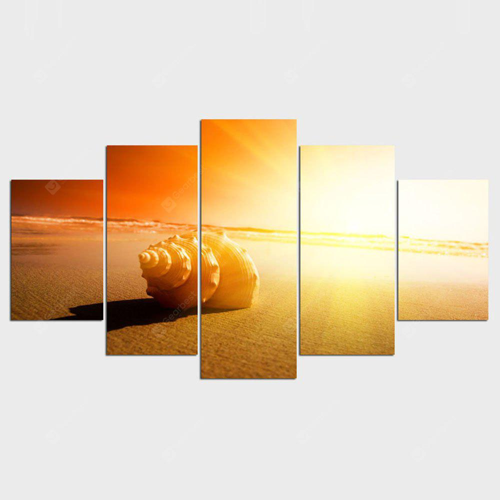 YSDAFEN Canvas Wall Art Painting Hot Sale African Shining Beach Modular Pictures 5 PCS