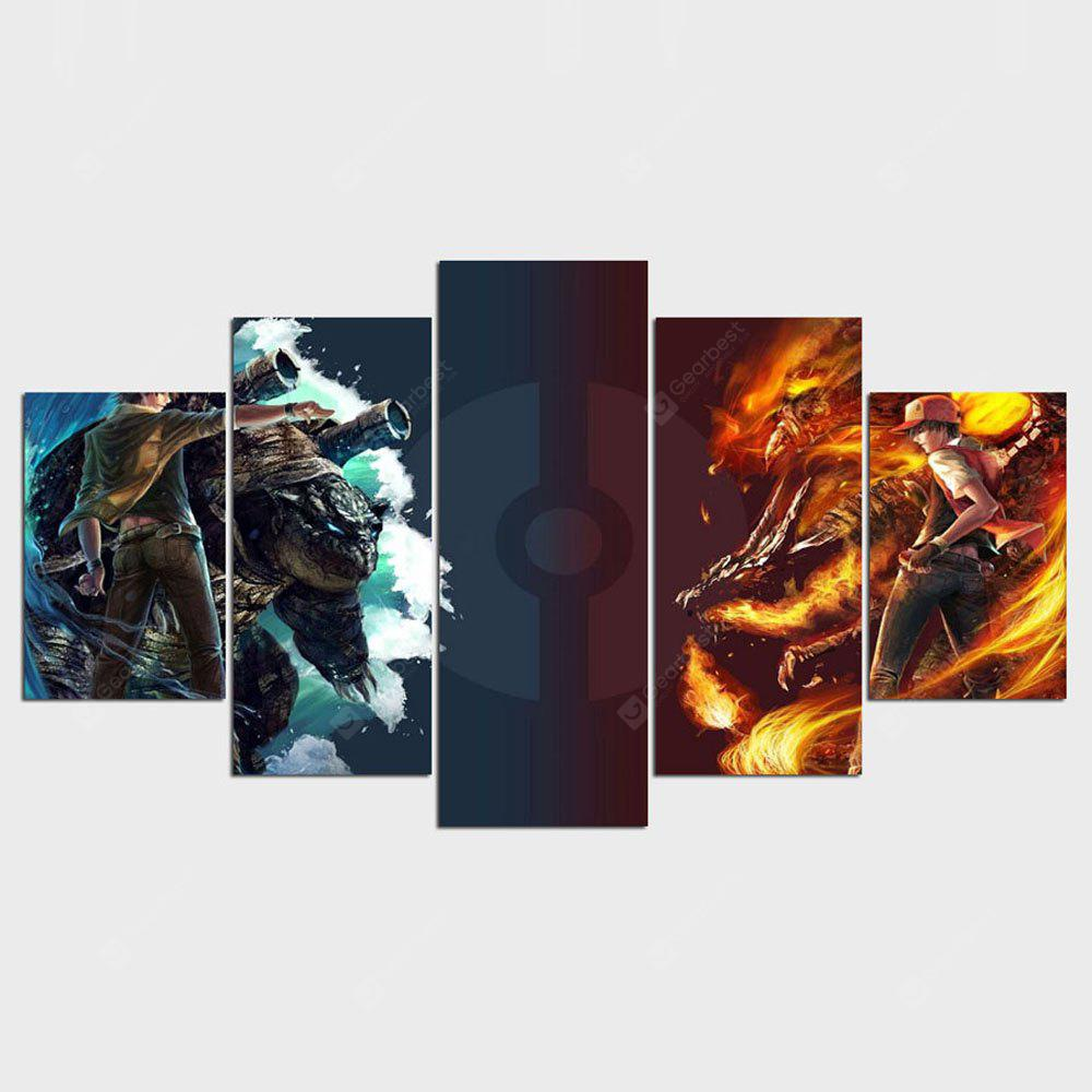 YSDAFEN 5 Panel Game Poster Top-Rated Modern Painting for Living Room