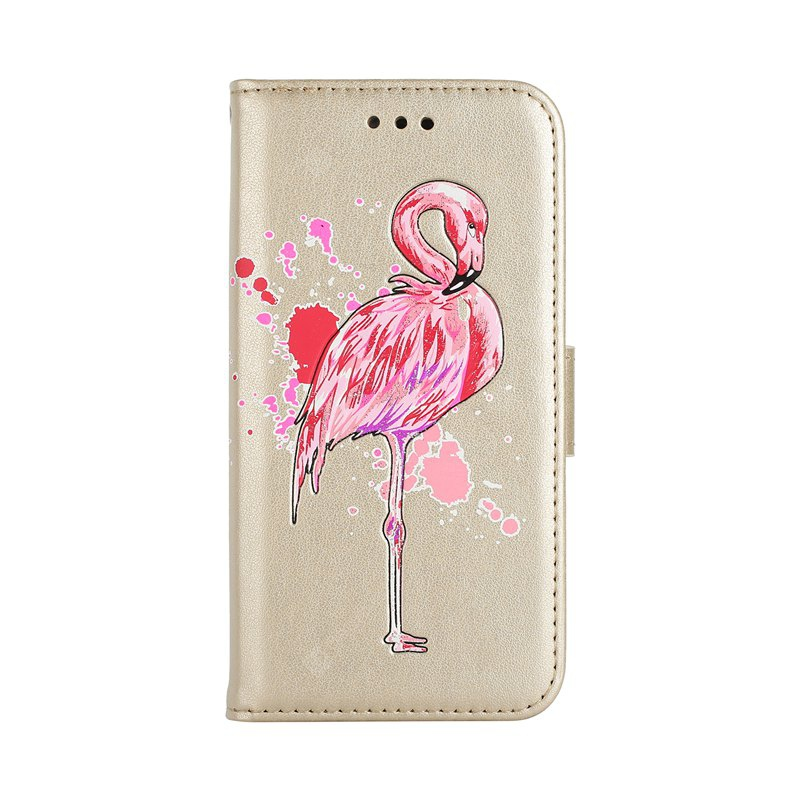 Painted Pink Flamingo PU Leather Case Cover for Huawei P8 Lite