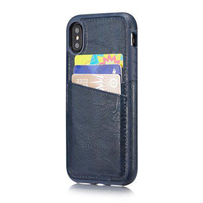 Wallet Slim Leather Back Case with Credit Card Holder for iPhone X