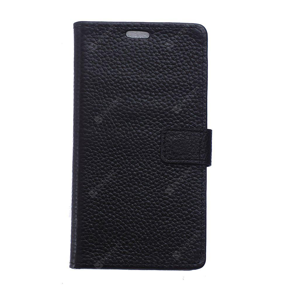 Cowhide Genuine Leather Wallet Stand Case for ZTE AXON7 MAX