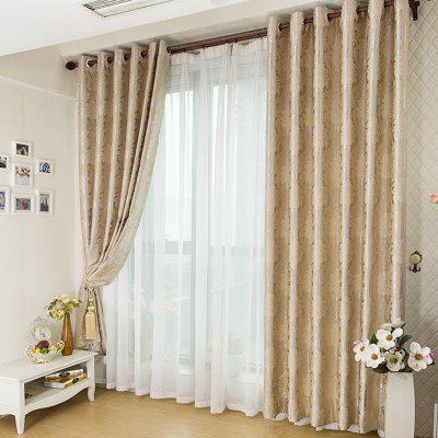 Buy European Minimalist Style Jacquard Blackout Curtains BEIGE for $49.43 in GearBest store