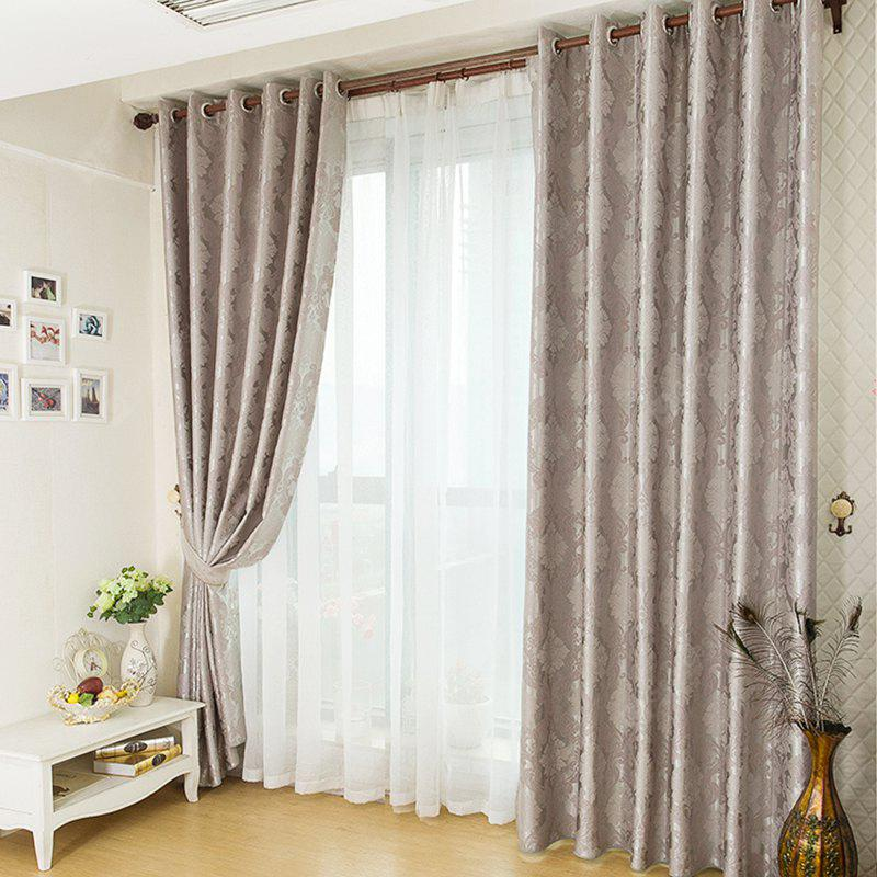 European Minimalist Style Jacquard Blackout Curtains GRAY
