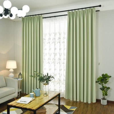 Buy Simple And Elegant Style Living Room Bedroom Blackout Curtains Grommet GREEN for $64.03 in GearBest store