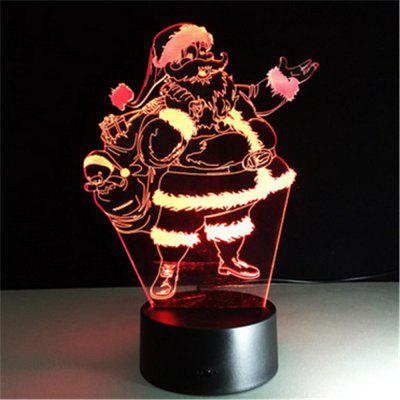 New 3D Lamp Santa Claus LED Effect Light 7 Colors Micro USB Or Aa Batteries Desk for Christmas
