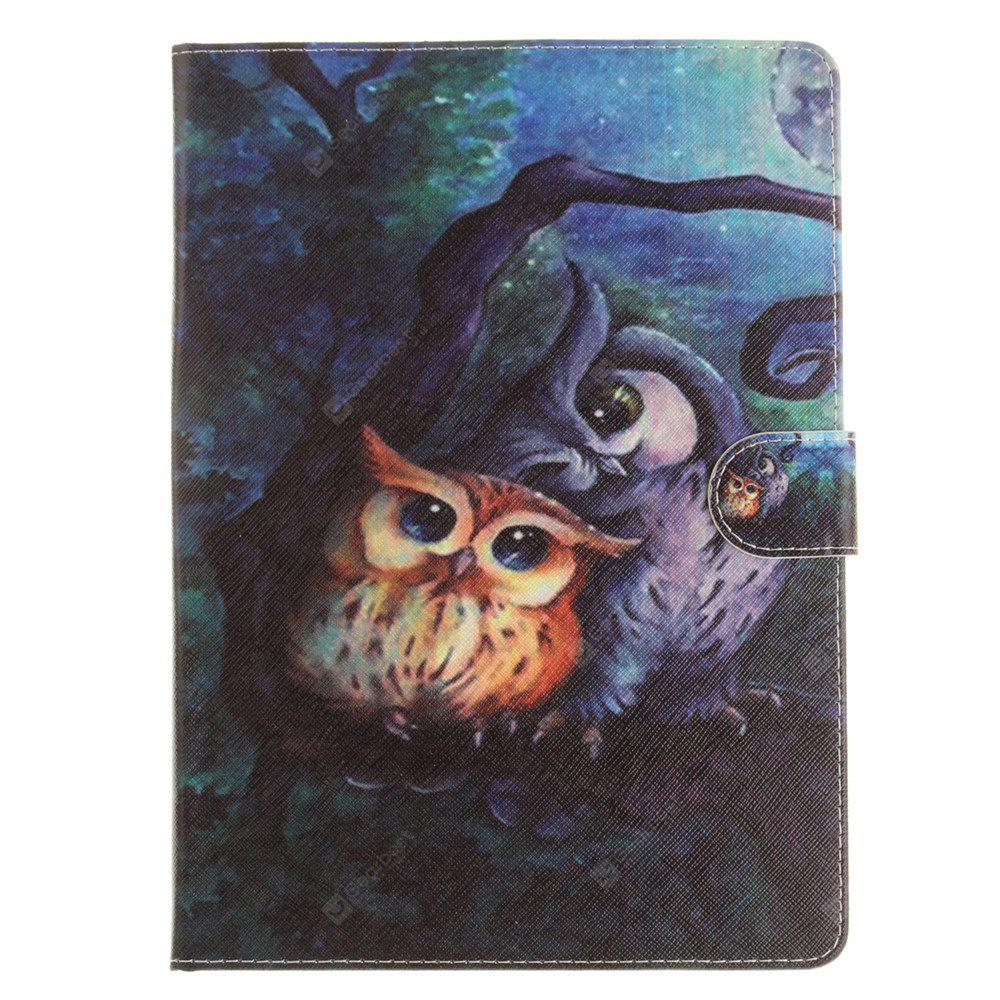 Oil Painting Ow PU+TPU Leather Wallet Cover Design with Stand and Card Slots Magnetic Closure Case for iPad Pro 9.7 Inch