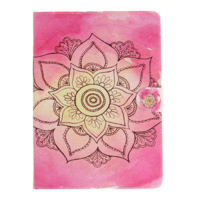 Pink Pattern PU+TPU Leather Wallet Cover Design with Stand and Card Slots Magnetic Closure Case for iPad Pro 9.7 Inch