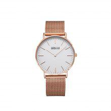 BAOGELA 1609 Casual Steel Mesh Band Couple Quartz Watch