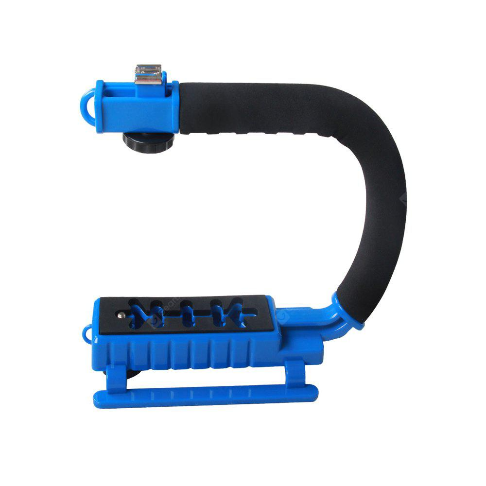 YELANGU Multicolor S2 C-shaped Video Handheld DV Bracket Stabilizer Handle Video Stabilizer DSLR Cameras BLUE