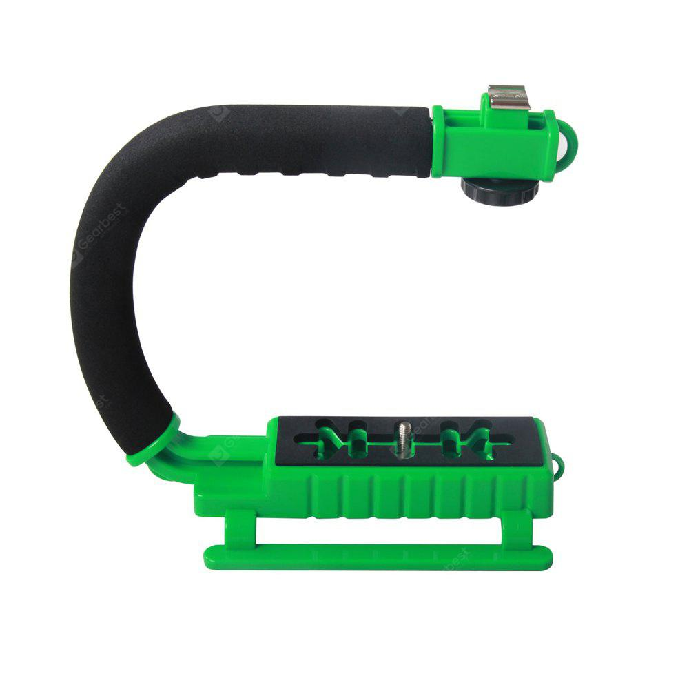 YELANGU Multicolor S2 C-shaped Video Handheld DV Bracket Stabilizer Handle Video Stabilizer DSLR Cameras GREEN