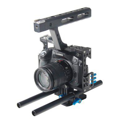 YELANGU Professional DSLR Bracket Support Aluminum Camera Cage C5 Portable DV Holder For GH4 A7 A7S