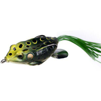 5PCS Topwate Frog Fishing Lure Soft Swimbait with Tackle Box for Freshwater and Saltwater Fishing