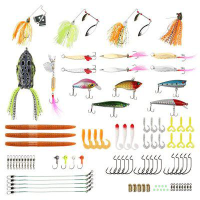 Fishing Lures Baits Tackle Set Box with Crankbaits Spinnerbaits Plastic Worms Jigs