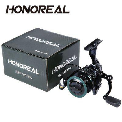 HONOREAL 4000 Aluminum Spool 9+1 BB Spinning Fishing Reel with Free Spare Graphite Spool  for Freshwater and Saltwater