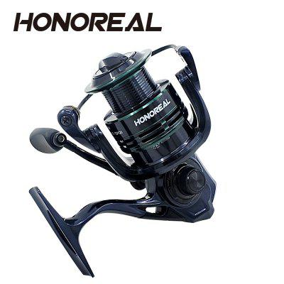 HONOREAL 5000 Aluminum Spool 9+1 BB Spinning Fishing Reel with Free Spare Graphite Spool  for Freshwater and Saltwater