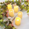Ensemble de 24pcs Bougies Votives Réalistes sans Flamme Bright Battery Operated - COULEUR D'IVOIRE