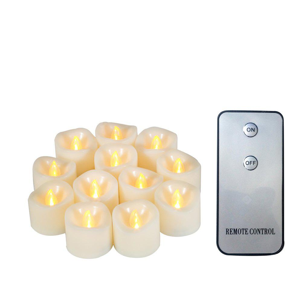 Ensemble de Bougie Votive de 12pcs LED avec Bord Fondu à Distance