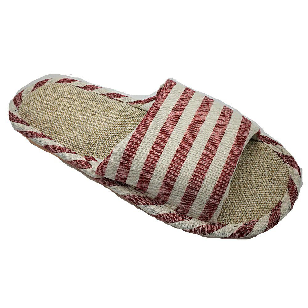 Women's and Men's  Linen Home Slippers for Spring Summer and  Autumn