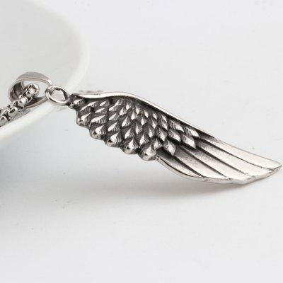Fashion Personality Angel Wings Feather Pendant Men Titanium Steel Wild Necklace JewelryMens Jewelry<br>Fashion Personality Angel Wings Feather Pendant Men Titanium Steel Wild Necklace Jewelry<br><br>Gender: For Men<br>Item Type: Chains Necklaces<br>Package Contents: 1 x Necklace<br>Package weight: 0.1700 kg<br>Style: Retro