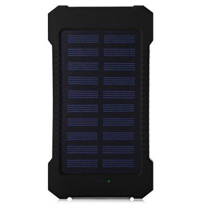 10000mAh Solar Charger Portable Solar Power Bank Outdoors Emergency External Battery for Mobile Phone Tablets Light 10000mah power bank case backup charger for iphone 6 plus