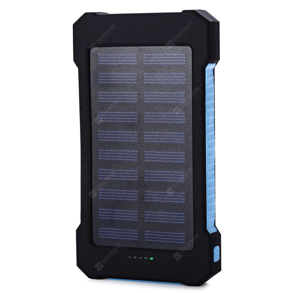 10000mAh Solar Charger Portable Solar Power Bank Outdoors Emergency External Battery for Mobile Phone Tablets Light