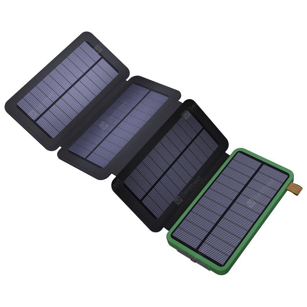 8000mah solar power bank with foldable panel portable. Black Bedroom Furniture Sets. Home Design Ideas