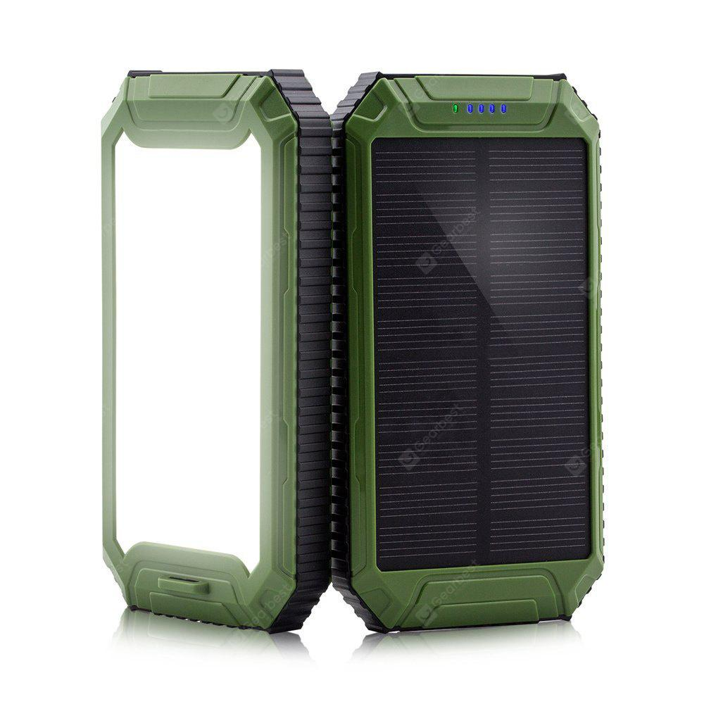 Solar Power Bank 10000mAh Solar Charger 2-Port USB - External Battery Pack Charger