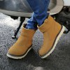 Men Warm Shoes Winter Casual Snow Boots Male Cotton Sneakers - YELLOW