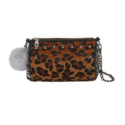 The New Fur Ball Bag Female Cute Mini Hair Messenger Bag