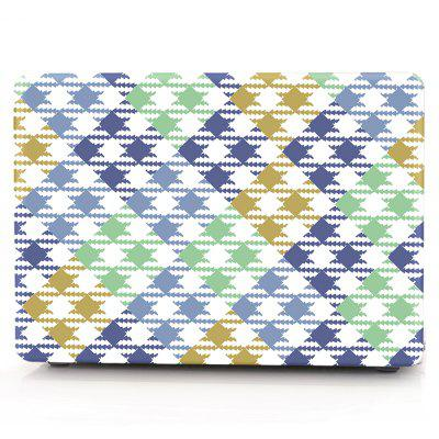 Computer Shell Laptop Case Keyboard Film for MacBook New Pro 15.4 inch Touch 2016 3D Square Geometric Figure
